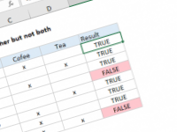 Excel formula: One or the other not both