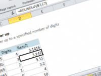 Excel formula: Round a number up