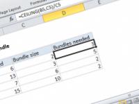 Excel formula: Round by bundle size