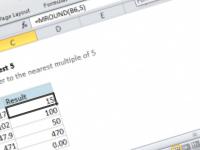Excel formula: Round to nearest 5