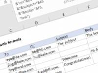 Excel formula: Send email with formula