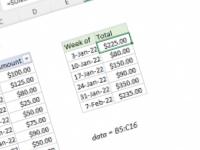 Excel formula: Sum by week