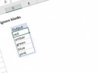 Excel formula: Unique values ignore blanks