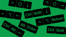 Popular Excel shortcuts