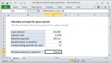 Excel formula: Calculate principal for given period