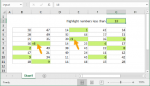 Excel formula: Highlight numbers that include symbols