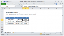 Excel formula: Date is same month