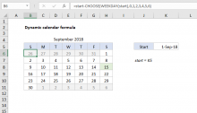 Excel formula: Get first day of month | Exceljet