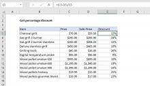 Excel formula: Get percentage discount