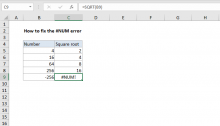 Excel formula: How to fix the #NUM! error