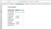 Excel formula: IF with wildcards