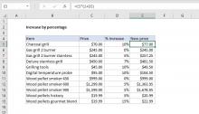 Excel formula: Increase by percentage