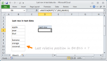 Excel formula: Last row in text data