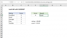 Excel formula: Left lookup with VLOOKUP
