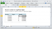 Excel formula: Round a number to n significant digits