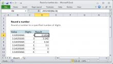 Excel formula: Round a number