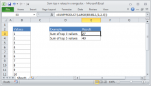how to use sumproduct in excel 2007