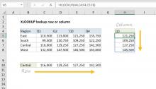 Excel formula: XLOOKUP lookup row or column