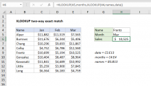 Excel formula: XLOOKUP two-way exact match