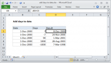 Excel formula: Add days to date