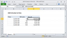 Excel formula: Add decimal minutes to time