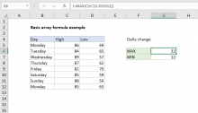 Excel formula: Basic array formula example
