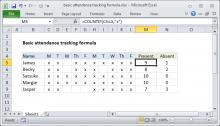 Excel formula: Basic attendance tracking formula