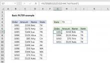Excel formula: Basic filter example