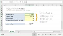 Excel formula: Highlight unprotected cells