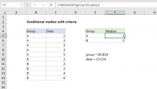 Excel formula: Conditional median with criteria