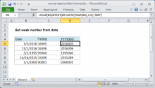 Excel formula: Convert date to Julian format