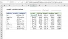 Excel formula: Convert expense time units