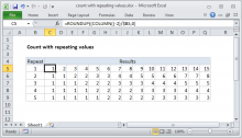 Excel formula: Count with repeating values