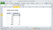 Excel formula: Cube root of number