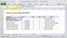 Excel formula: Dynamic named range with OFFSET
