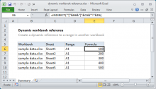 Excel formula: Dynamic workbook reference