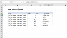 Excel formula: Extract substring