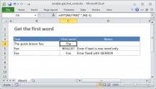 Excel formula: Get first word