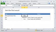 Excel formula: Get first word