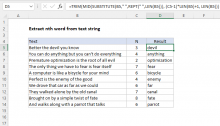 Excel formula: Extract nth word from text string