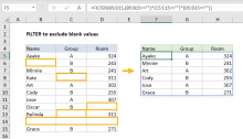 Excel formula: Filter exclude blank values