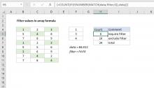 Excel formula: Filter values in array formula
