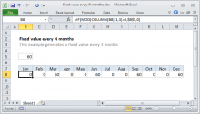 Excel formula: Fixed value every N months