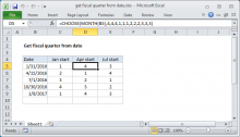 Excel formula: Get fiscal quarter from date