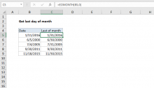 Excel formula: Get last day of month