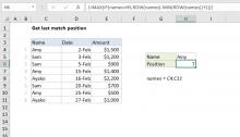 Excel formula: Get last match