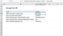 Excel formula: Get page from URL