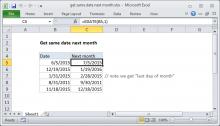 Excel formula: Get same date next month