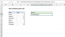 Excel formula: Get workbook path only