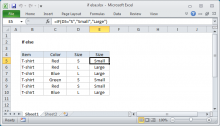 Excel formula: If else